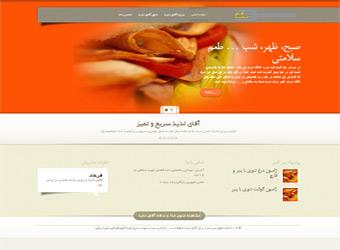 طراحی سایت آقای لذیذ